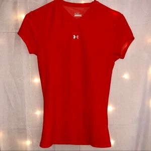 Under Armour Orange Tight Work Out Tee